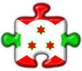 Free Burundi Button Flag Puzzle Shape Stock Photos - 4654543