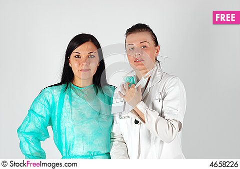 Free Female Doctors Team Royalty Free Stock Image - 4658226
