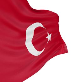 3D Turkish Flag Royalty Free Stock Photo