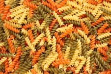 Free Colorful Fusilli Pasta Background Royalty Free Stock Image - 4650416