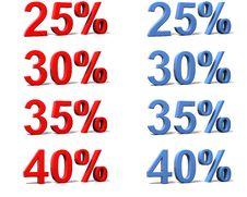 Free Percentage Signs Stock Photo - 4650530