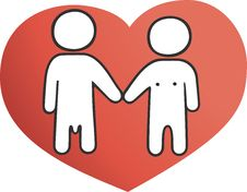 Free Illustration: Two On The Heart Stock Photography - 4650772