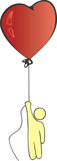 Free Illustration: Man On Balloon Royalty Free Stock Photo - 4650905