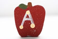 Free Wooden Apple With Letter Stock Photo - 4651160