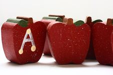 Free Wooden Apples Royalty Free Stock Photography - 4651217