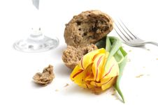 Tulip And Bread Royalty Free Stock Photo