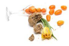 Tulip, Bread And Kumquats Royalty Free Stock Photography