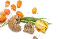 Tulip, Bread And Kumquats Stock Image