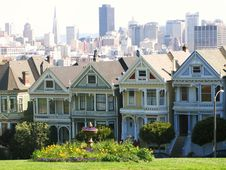 Alamo Square Painted Ladies Stock Photography