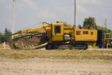 Free Pipeline Digging Machine Stock Photography - 4651922