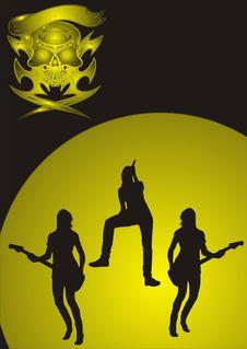 Free Girls Metal Band Royalty Free Stock Photo - 4652055