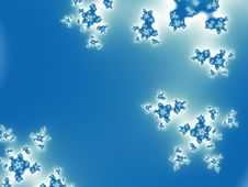 Free Abstract Blue Snow Flake Background Royalty Free Stock Photos - 4652408