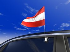 Car Flag Royalty Free Stock Image