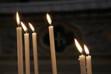 Free Candles In The Church Royalty Free Stock Images - 4653039
