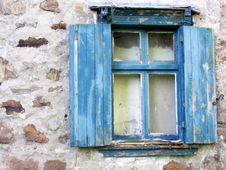 Free Old Blue Window Stock Photography - 4653592