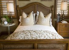 Modern Luxury Home Bedroom. Stock Images