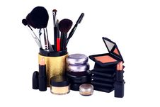 Free Eyeshadow And Blush Makeup Display Royalty Free Stock Photography - 4653937