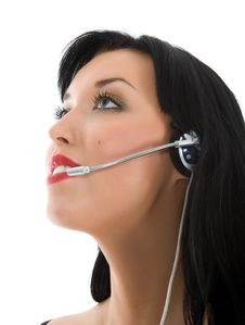 Free Business Woman Calling Stock Photo - 4654110