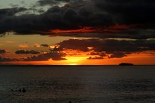 Free Sunset On Fire Royalty Free Stock Photo - 4654395