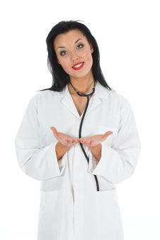Free Young Doctor With Stethoscope Royalty Free Stock Image - 4654466