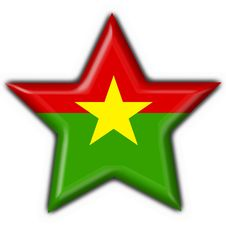 Free Burkina Button Flag Star Shape Royalty Free Stock Image - 4654526