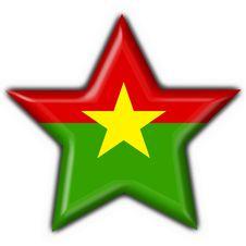 Free Burkina Button Flag Star Shape Royalty Free Stock Image - 4654526