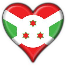 Free Burundi Button Flag Heart Shape Stock Photography - 4654542