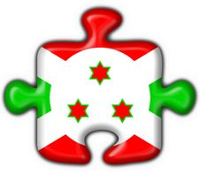 Free Burundi Button Flag Puzzle Shape Stock Photos - 4654543