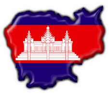 Cambodia American Button Map Flag Royalty Free Stock Images
