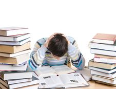 Free The Young Student With Books Isolated On A White Royalty Free Stock Photo - 4655035