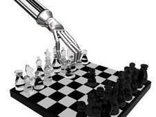 Free Robots Glass Chess Royalty Free Stock Photos - 4655438