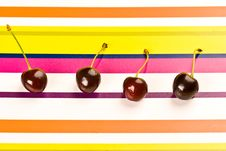 Free Four Cherry Stock Image - 4655651