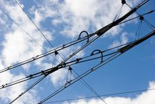 Tramway Rower Cables Stock Photo