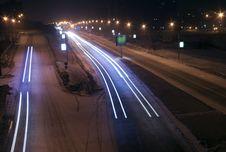 Free Night Traffic Junction Stock Image - 4656931