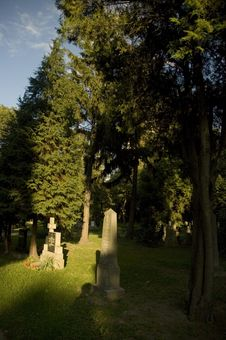 Free Cemetery With Fresh Green Trees Stock Photography - 4657142