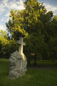 Free Cemetery With Fresh Green Trees Royalty Free Stock Image - 4657296
