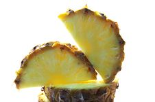 Free Pineapple Cut On A Part Isolated Royalty Free Stock Images - 4657479