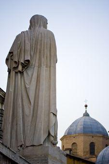 Free Saint Looking At Church Royalty Free Stock Photo - 4657945