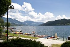 Lake In The European Alps Royalty Free Stock Image