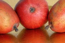 Free Trio Of Red Pears Royalty Free Stock Images - 4658359