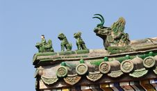 Chinese Ancient Eave Royalty Free Stock Photos