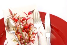 Free Red Table Setting Royalty Free Stock Images - 4659669