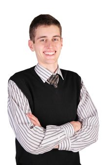 Free Smiling Guy In Black Vest Stock Photos - 4659983