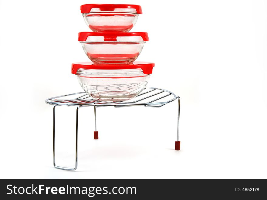 Support for a grill with capacities for storage