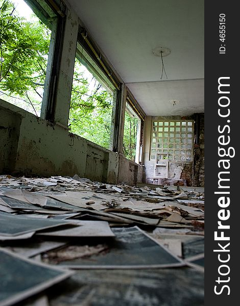 Ruined old hospital