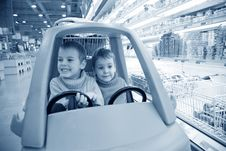 Free Children In  Toy Automobile Stock Photo - 4660400