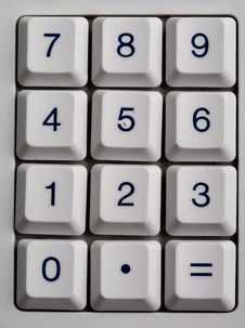 Free Calculator Number Pad Royalty Free Stock Photography - 4660657