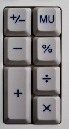 Free Grey Calculator Buttons Stock Photos - 4660663