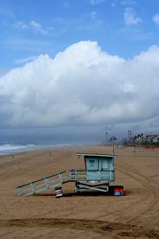 Free California Lifeguard Tower Stock Photo - 4661100
