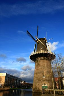Free Windmill In Spring Stock Photo - 4661640